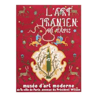 1954 French Exhibition Poster, Persian Carpet Exhibition (L'Art Iranien Du Tapis) For Sale