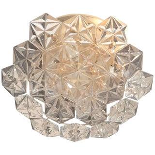 1960s Kinkeldey Faceted Crystal Prism Chandelier For Sale