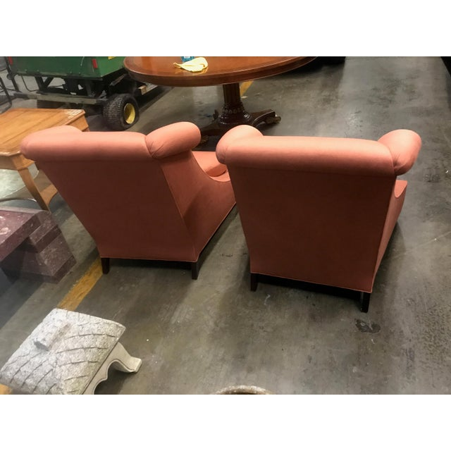 Fabric Baker Furniture Villa Club Chairs by Thomas Pheasant - a Pair For Sale - Image 7 of 11