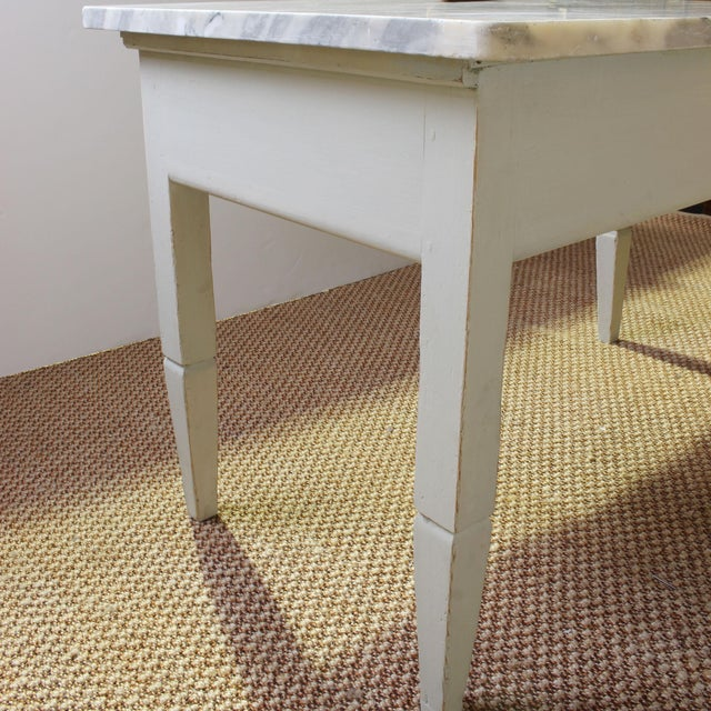 Early 20th Century Vintage Italian Marble Top Kitchen Table For Sale - Image 5 of 10