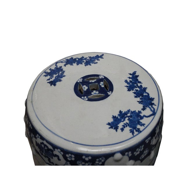 Chinese Porcelain Round Graphic Stool - Image 4 of 4