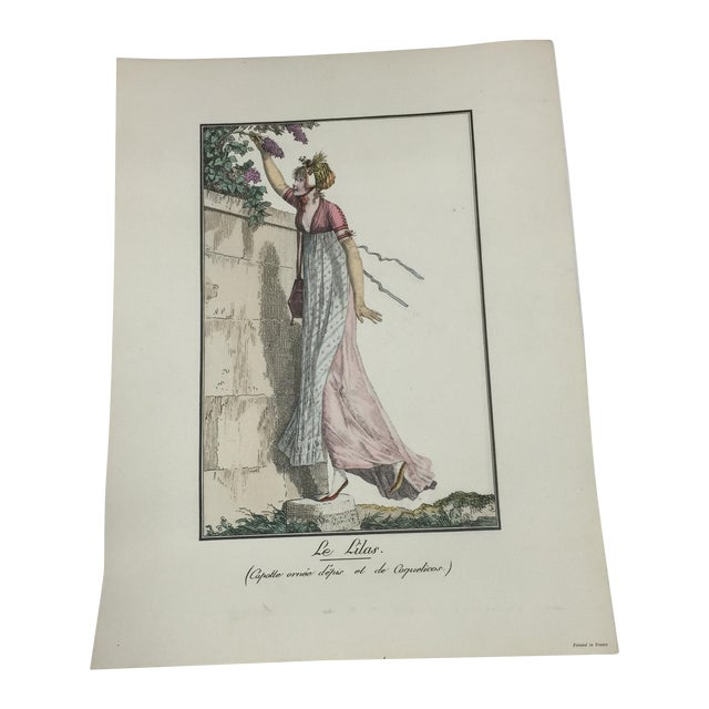 Antique French Print Le Lilas the Lilacs For Sale