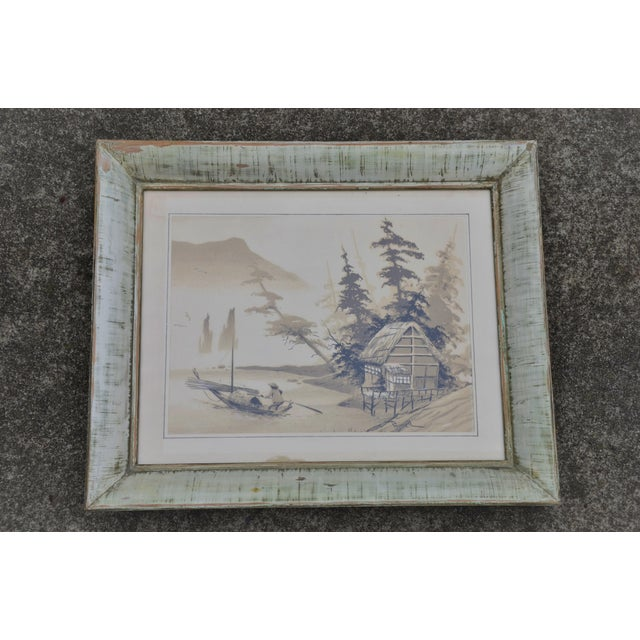 Vintage Mid-Century James Bunnell Chinoiserie Ink Prints - A Pair For Sale - Image 4 of 13