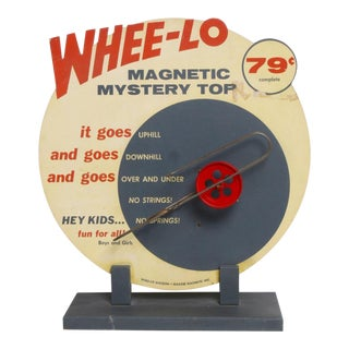 1960's Vintage Whee-Lo Motorized Point of Purchase Display For Sale