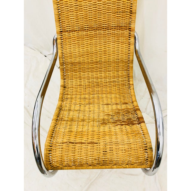 Chrome Mid Century Modern Thonet Rocking Chair For Sale - Image 7 of 9