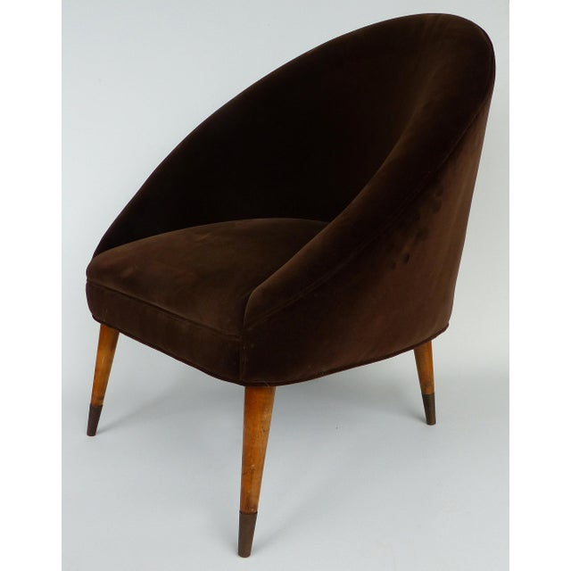 Mid-Century Modern Mid-Century Gio Ponti Style Club Chairs-A Pair For Sale - Image 3 of 11