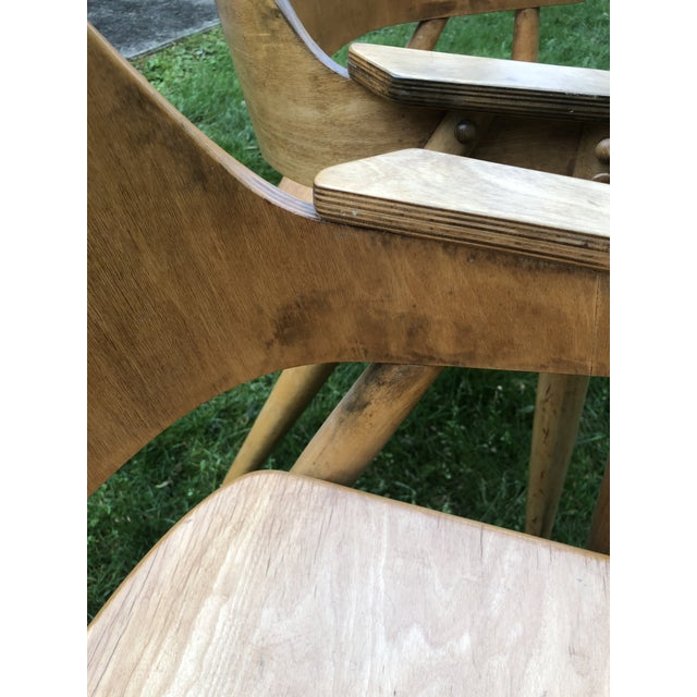 Thonet Modern Bentwood Plywood Armchairs - a Pair For Sale In Philadelphia - Image 6 of 11