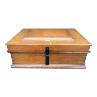 1927 Large Carpenter's Box Signed M. Kroll For Sale
