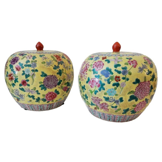 Famille Jaune Ginger Jars - A Pair - Image 1 of 8