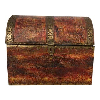 John Richard Florentine Style Small Trunk For Sale