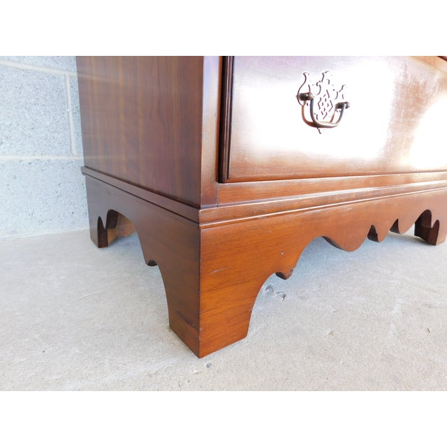 Wood Stickley Chippendale Style Solid Cherry 6 Drawer Tall Chest For Sale - Image 7 of 12