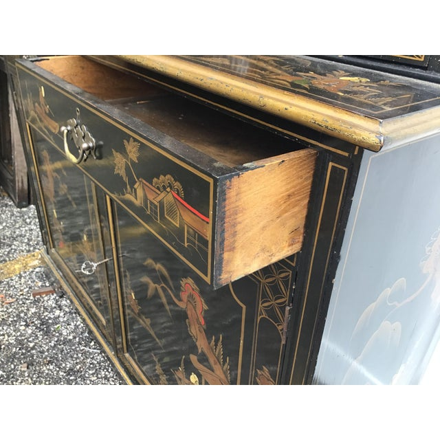 19th Century Chippendale Chinoiserie Bookcase Cabinet For Sale - Image 10 of 13