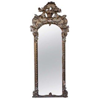 19th Century Italian Gilt Wood Mirror For Sale