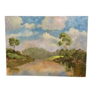 Oil on Canvas Pastel Color Landscape