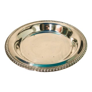 WM Rogers Footed Silverplate Serving Tray For Sale