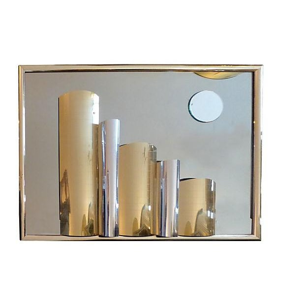 Cityscape Mirror Brass Plate - Image 4 of 7