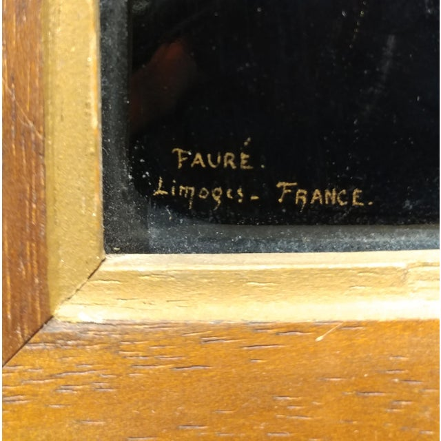 Faure Limoges - Rembrandt Self Portrait - French Enamel Painting on Copper For Sale - Image 4 of 9