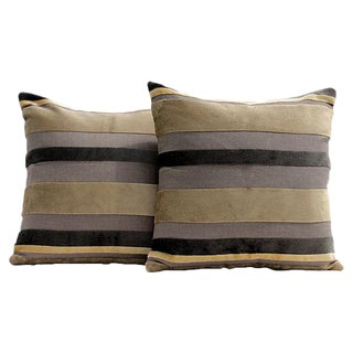 Gaston Y Daniela Velvet Stripe Pillow Covers - A Pair For Sale