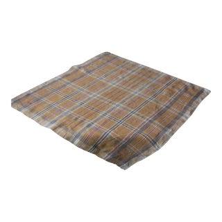 Antique French Plaid Check Napkin Bandana Neckerchief Towel For Sale