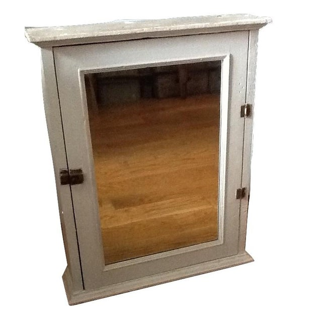 Rustic Antique Wood Wall Medicine Cabinet With Mirror For Sale - Image 3 of  6 - Antique Wood Wall Medicine Cabinet With Mirror Chairish