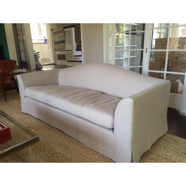 Restoration Hardware Belgian Linen Sofas - A Pair - Image 4 of 5