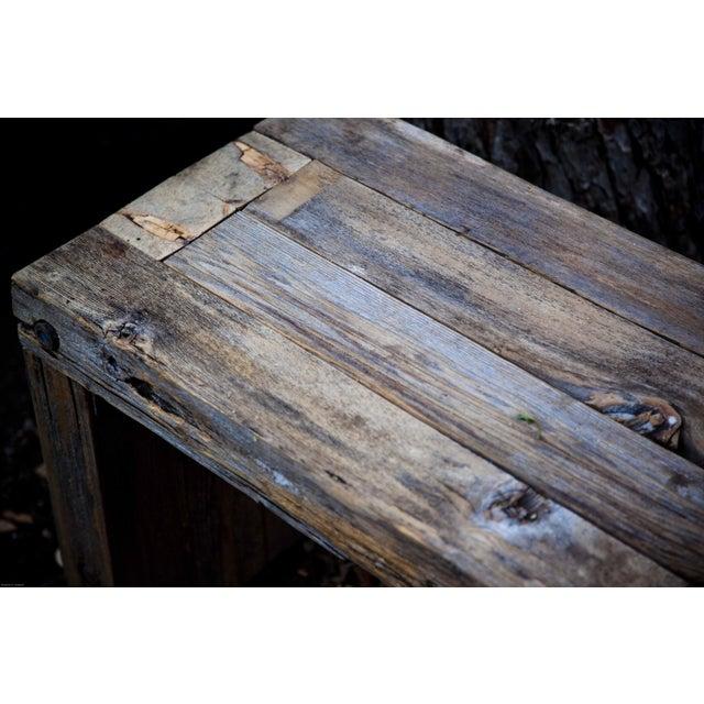 Reclaimed Wood Garden Loveseat Bench - Image 6 of 9