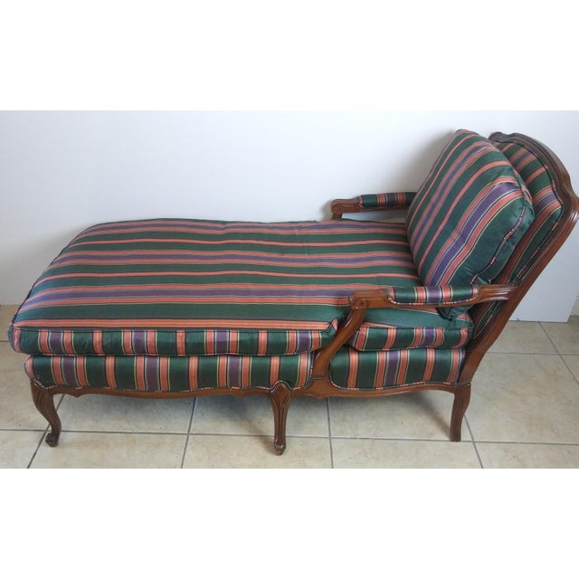 Louis XV Style French Provincial Chaise Lounge For Sale - Image 11 of 11
