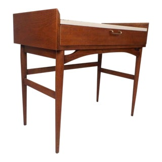 Mid-Century Modern Desk or Vanity by American of Martinsville For Sale