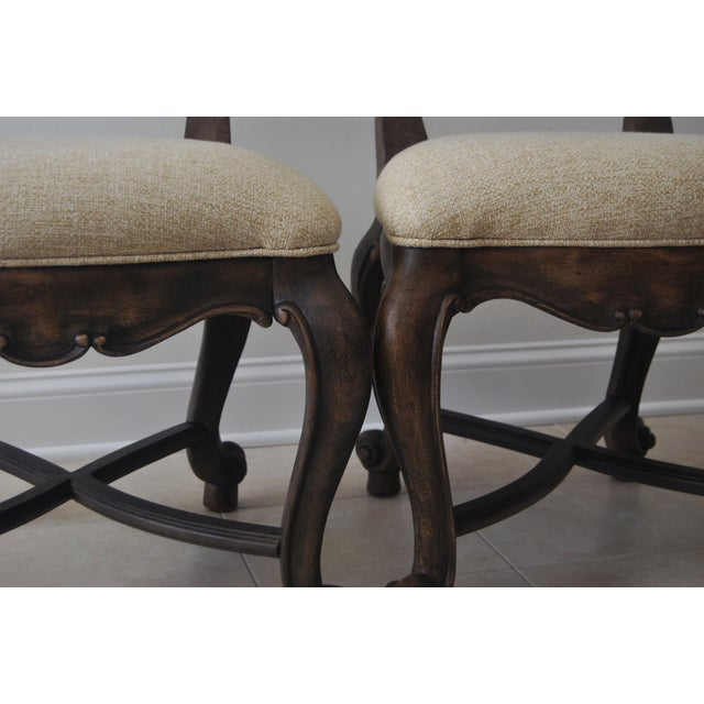 A Pair of French Style Wood Back Side Chairs - Image 11 of 11