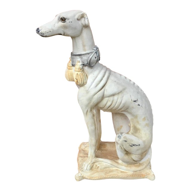 1950s Vintage Italian Whippet Statue For Sale