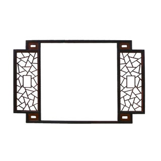 Two Tone Brown Lattice Wall Panel For Sale