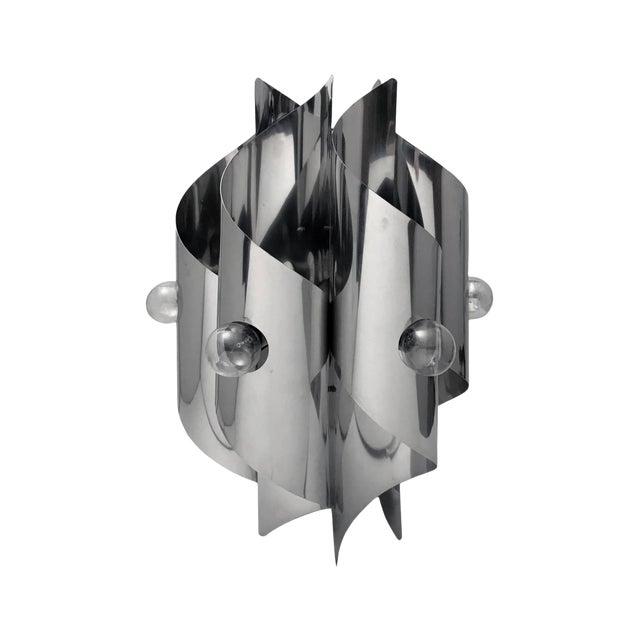 1970s Italian Six-Light Vertical Twisted Pendant Chandelier For Sale