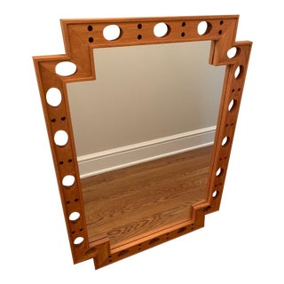 Selamat Wood Wall Mirror For Sale