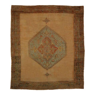 Antique Turkish Oushak Rug With Modern Design