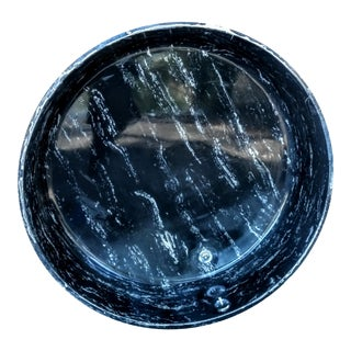 Gorgeous Mid Century Modern Vintage Solid Black &White Marble Roman BathTub For Sale