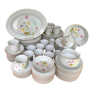 Stunning, Vintage, Mikasa Stratford Summer Melody Dinner Set 10 & More of 89 Pieces/Reduced For Sale