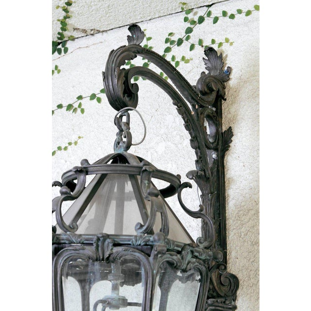 Pair of Monumental Louis XV Style Bronze Gas Lanterns For Sale In Dallas - Image 6 of 11