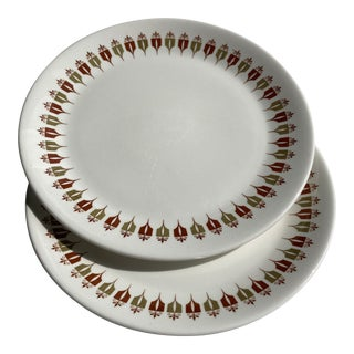 Mid-Century Modern Captain's Table by Syracuse Plates - Set of 2 For Sale