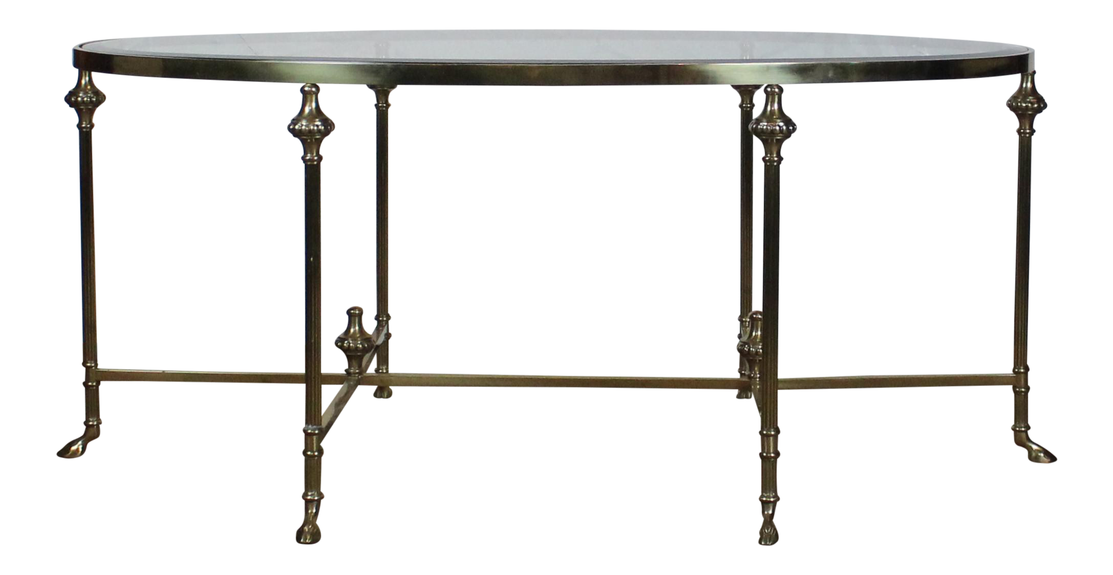 brass coffee table. 20th Century Traditional Glass And Brass Coffee Table