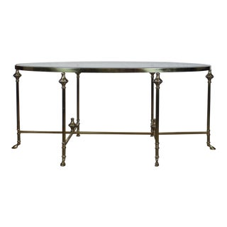 20th Century Traditional Glass and Brass Coffee Table