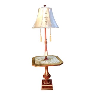 Mother-of-Peal Copper Glazed Pomegranate Floor Lamp For Sale