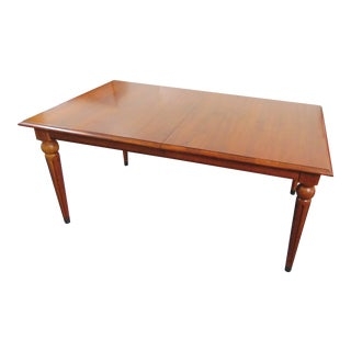Ethan Allen Country Style Maple Dining Table / 2 Leaves For Sale