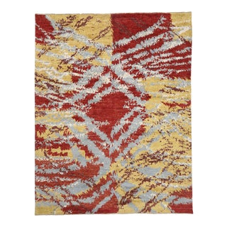 Contemporary Abstract Moroccan Style Rug, 12'03 X 15'08 For Sale