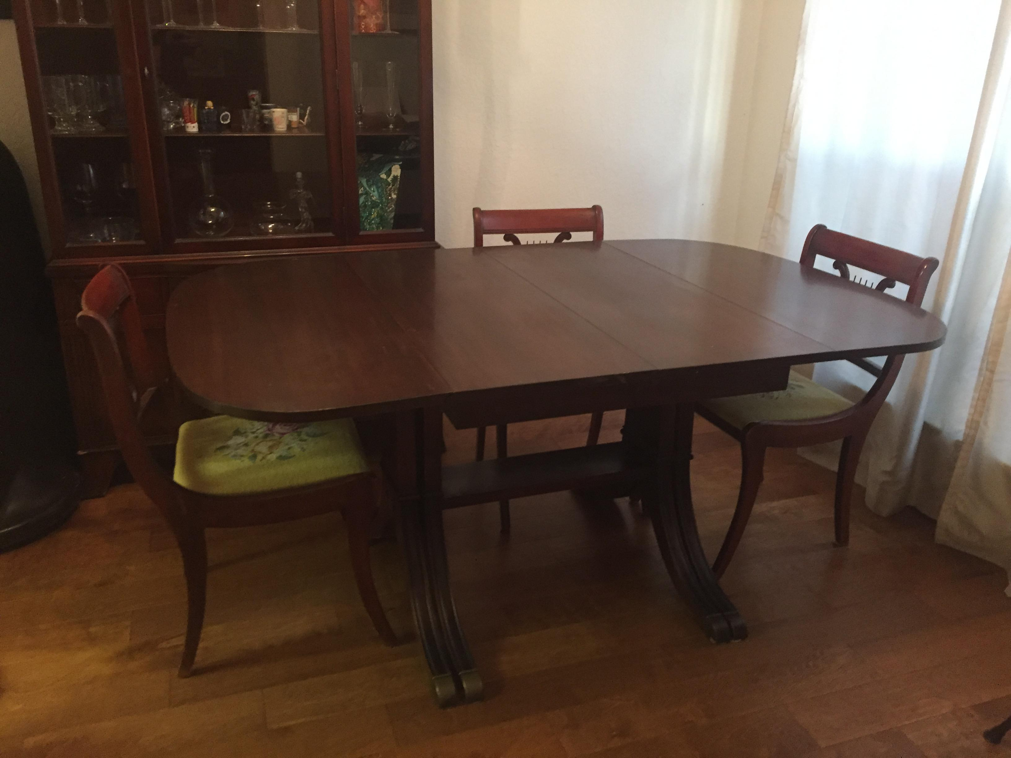 Drexel Heritage Vintage Mahogany Dining Set  Table And 6 Chairs   Image 2  Of 10