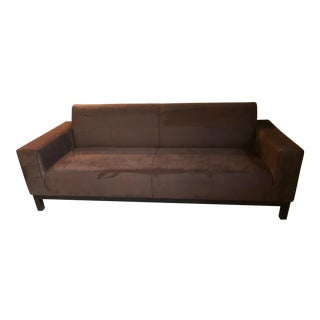21st Century Crate and Barrel Mid Century Sofa For Sale