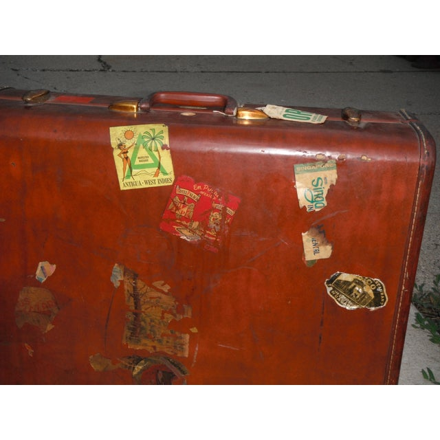 Vintage Samsonite Leather Suitcase - Image 6 of 8