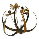 Image of 1980s Brutalist Brass Flower Decoration For Sale
