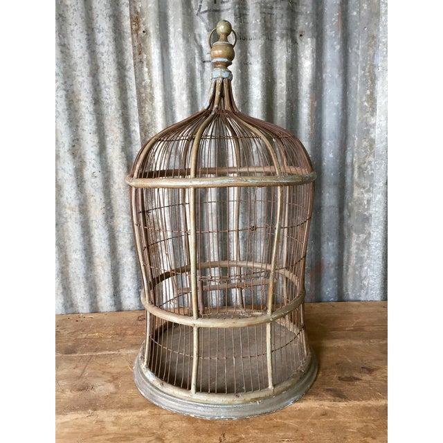 Antique Bentwood & Metal Bird Cage - Image 3 of 7