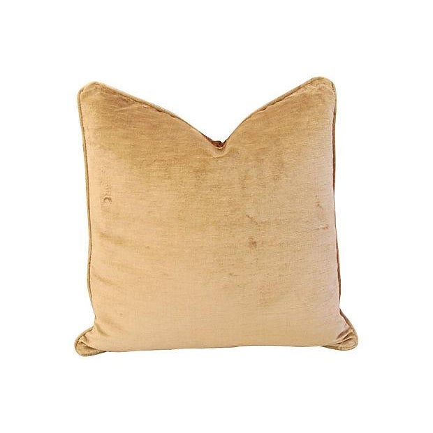 Silk Pillows W/ Embroidered Gold Stars - A Pair - Image 3 of 6
