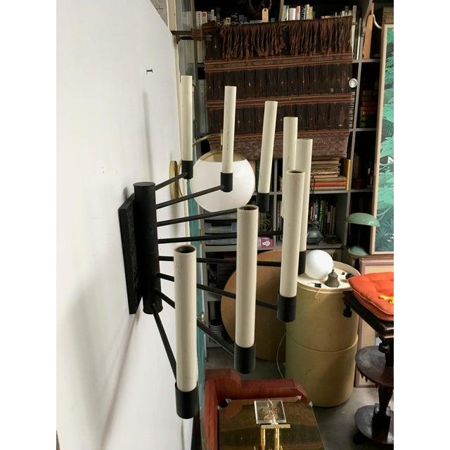 Lightolier Black Lightolier Eight Arm Sconce For Sale - Image 4 of 9